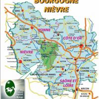 Kaart Bourgogne - Morvan